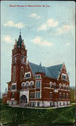 Doddridge County Court House, as pictured on a post card